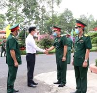 Thường trực Ban Bí thư Võ Văn Thưởng thăm, chúc Tết Sư đoàn 9, Quân đoàn 4