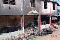 Một cháu nhỏ tử vong do cháy nhà tại Hà Tĩnh
