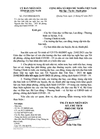 Quảng Nam Một học sinh giả văn bản của UBND tỉnh bị cảnh cáo
