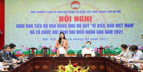 Hà Nội Vận động ủng hộ Quỹ Vì biển, đảo Việt Nam