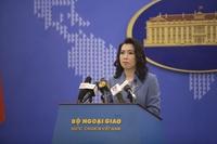Việt Nam phản đối hành động vi phạm chủ quyền Hoàng Sa, Trường Sa