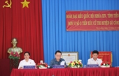 Trưởng ban Tuyên giáo Trung ương tiếp xúc cử tri tại Tiền Giang
