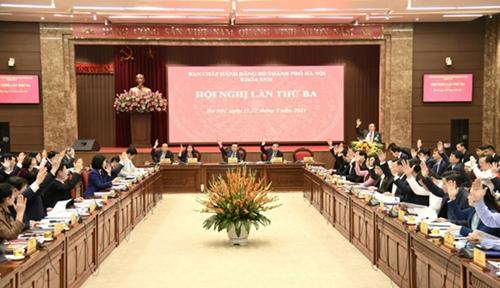 Hà Nội Tuyên truyền nghị quyết Đại hội XIII của Đảng, 10 chương trình công tác của Thành ủy