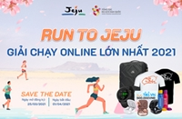 """""""Chạy đến Jeju"""" - sân chơi trực tuyết kết nối người yêu du lịch, thể thao"""