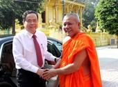 Chủ tịch Ủy ban TƯ MTTQ Việt Nam chúc mừng Tết cổ truyền Chôl Chnăm Thmây