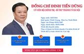 Infographic Chân dung tân Bí thư Thành ủy Hà Nội Đinh Tiến Dũng