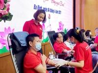 Hà Nội Ngày hội hiến máu tình nguyện thu về hơn 222 đơn vị máu