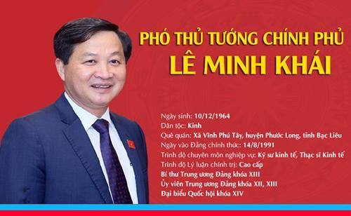 [Infographic] Chân dung tân Phó Thủ tướng Chính phủ Lê Minh Khái