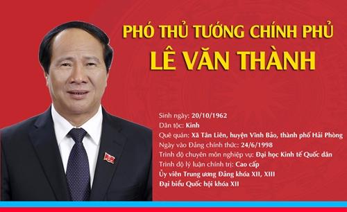 [Infographic] Chân dung tân Phó Thủ tướng Chính phủ Lê Văn Thành