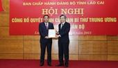 Điều động Phó Bí thư Đảng ủy Khối Doanh nghiệp Trung ương làm Phó Bí thư Tỉnh ủy Lào Cai