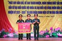 Bộ CHQS tỉnh Nghệ An đón nhận Cờ thi đua của Chính phủ