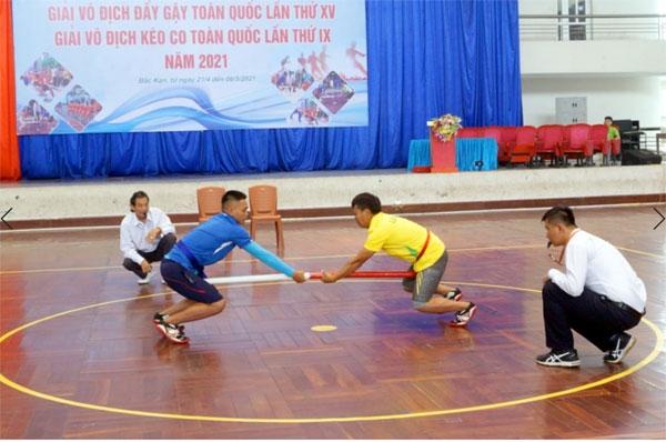 Khai mạc Giải vô địch Đẩy gậy và Giải vô địch Kéo co toàn quốc 2021