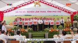 Chủ tịch nước Nguyễn Xuân Phúc thăm và làm việc ở xã Tứ Xã, huyện Lâm Thao, tỉnh Phú Thọ