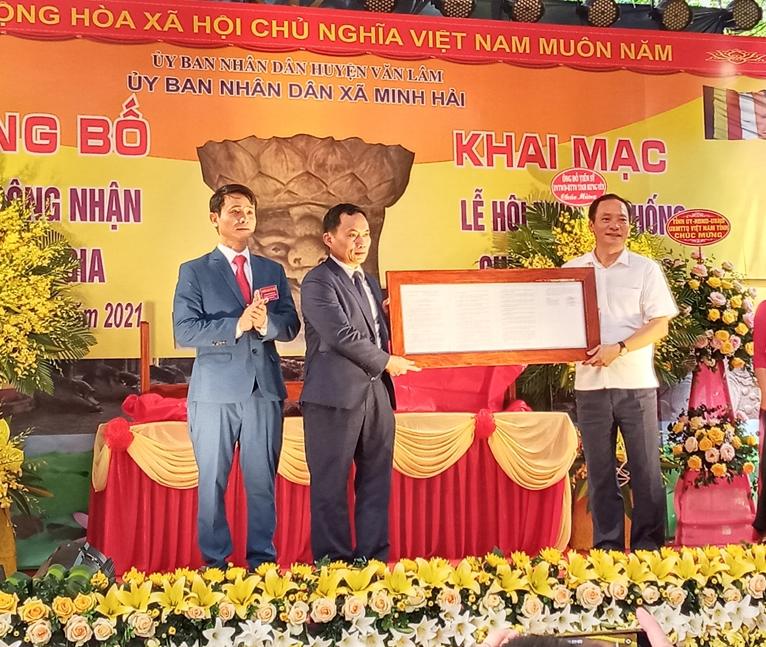 Xã Minh Hải tổ chức Lễ công bố Quyết định hai bảo vật Quốc gia