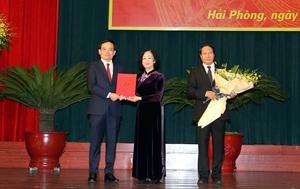 Đồng chí Trần Lưu Quang giữ chức Bí thư Thành ủy Hải Phòng