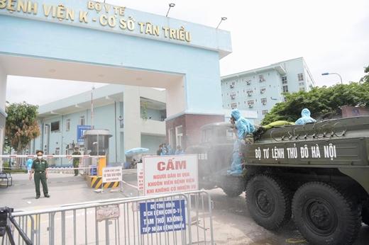 Tiêu độc khử trùng Bệnh viện K cơ sở Tân Triều