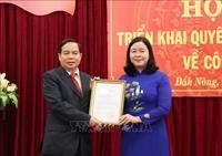 Đồng chí Điểu K'Ré làm Phó Bí thư Tỉnh ủy Đắk Nông