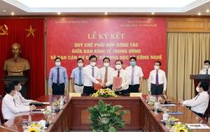 Tăng cường phối hợp công tác giữa Ban Kinh tế Trung ương và Ban cán sự Đảng Bộ Khoa học và Công nghệ