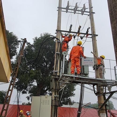 Điện lực Yên Bái quyết tâm thực hiện nghiêm an toàn, vệ sinh lao động năm 2021