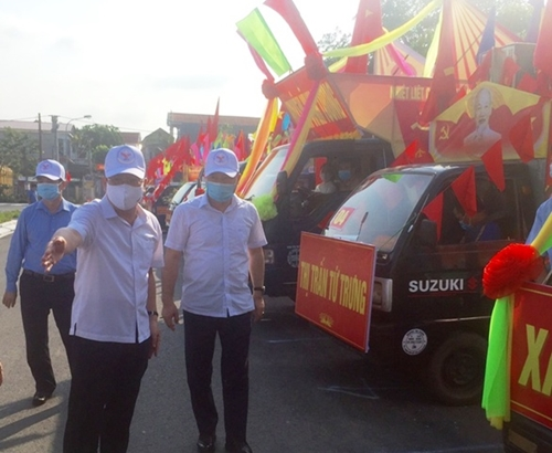 Vĩnh Phúc Ra quân thực hiện cao điểm tuyên truyền về bầu cử
