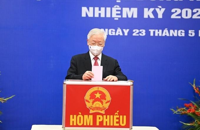 Tổng Bí thư: Cuộc bầu cử sẽ thành công tốt đẹp