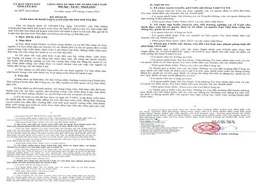 Yên Bái ban hành Kế hoạch triển khai thi hành Luật Cư trú