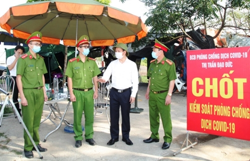 Vĩnh Phúc Kéo dài hoạt động 9 chốt kiểm soát dịch tại các điểm vào tỉnh
