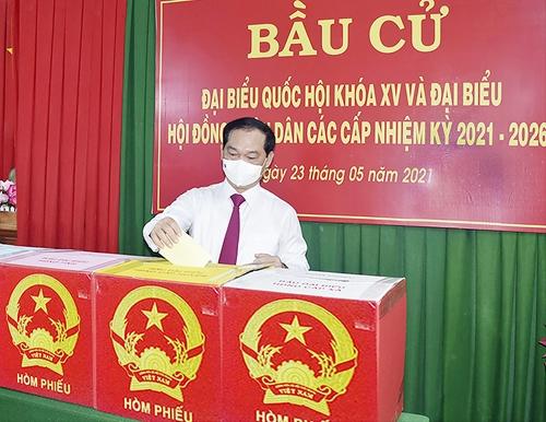 Cuộc bầu cử đại biểu Quốc hội và đại biểu HĐND các cấp tỉnh Bà Rịa- Vũng Tàu thành công, tốt đẹp