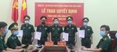 BCH Bộ đội Biên Phòng Kiên Giang trao Quyết định thăng quân hàm năm 2021