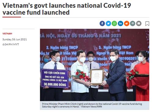 Dư luận quốc tế hoan nghênh sáng kiến thành lập Quỹ vaccine Việt Nam