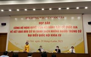 TP Hồ Chí Minh 30 người trúng cử đại biểu Quốc hội khoá XV