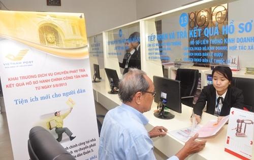 Tăng cường tiếp nhận, trả kết quả thủ tục hành chính qua dịch vụ Bưu chính công ích