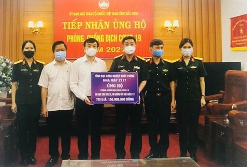 Tổng cục Công nghiệp Quốc phòng ủng hộ, hỗ trợ địa phương phòng, chống dịch COVID-19