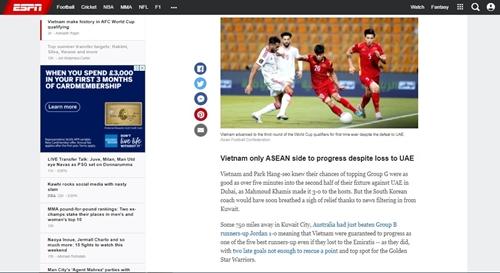 Truyền thông quốc tế nói gì về Đội tuyển Việt Nam