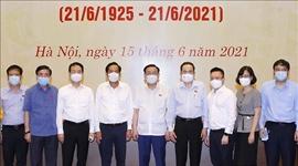 Chủ tịch Quốc hội Vương Đình Huệ dự gặp mặt và làm việc với lãnh đạo, đại diện các cơ quan báo chí nhân kỷ niệm 96 năm Ngày Báo chí Cách mạng Việt Nam 21 6 1925 – 21 6 2021