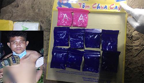 Bắt giữ đối tượng vận chuyển 6 000 viên ma túy từ Lào về Việt Nam