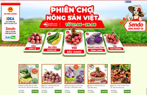 """""""Phiên chợ nông sản trực tuyến"""" trên sàn thương mại điện tử Sendo"""