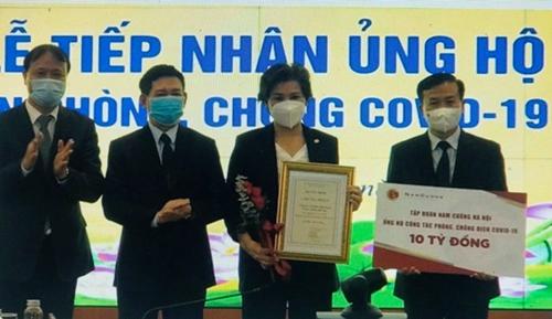 Tập đoàn Nam Cường trao 10 tỷ đồng ủng hộ Quỹ vắc xin phòng, chống COVID-19