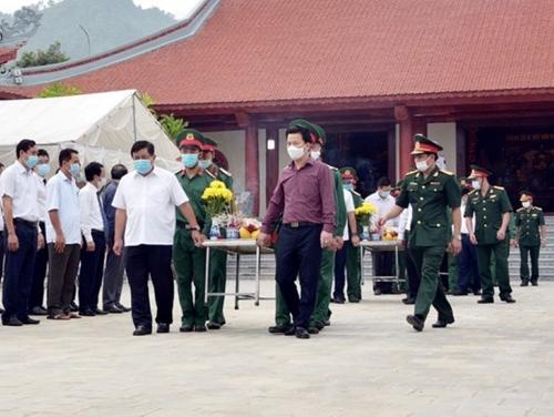 Truy điệu và an táng các anh hùng liệt sĩ tại Nghĩa trang Vị Xuyên Hà Giang