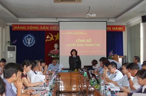 Thanh tra chuyên ngành BHXH tại 12 đơn vị sử dụng lao động tại An Giang