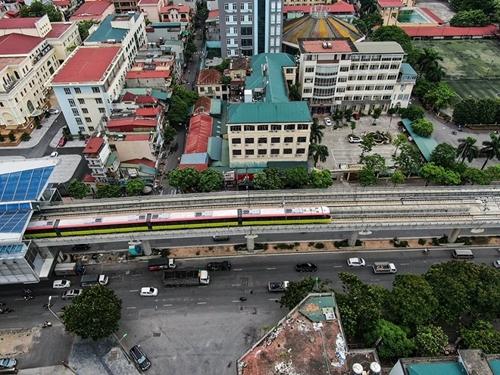 Vận hành thử tàu metro tuyến Nhổn – ga Hà Nội