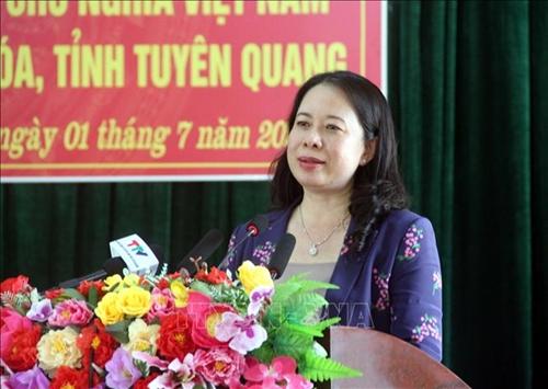 Phó Chủ tịch nước Võ Thị Ánh Xuân thăm và làm việc tại Tuyên Quang