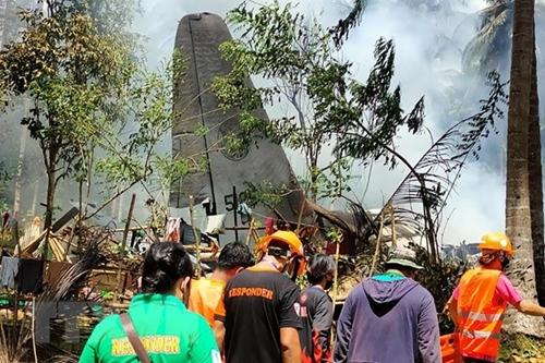 Vụ máy bay rơi ở Philippines số người thiệt mạng 29 người