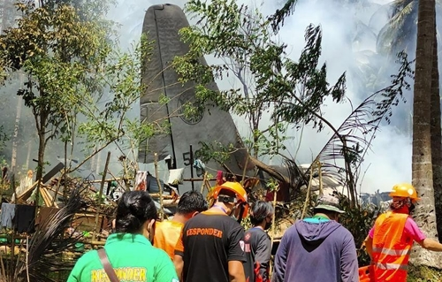 Philippines Rơi máy bay quân sự, 47 quân nhân thiệt mạng