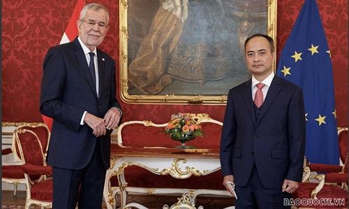 Đại sứ Việt Nam trình Thư ủy nhiệm lên Tổng thống Cộng hòa Áo