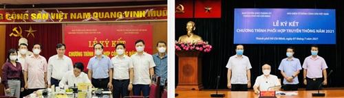 Báo điện tử Đảng Cộng sản Việt Nam và Thành ủy TP Hồ Chí Minh ký kết Chương trình phối hợp truyền thông