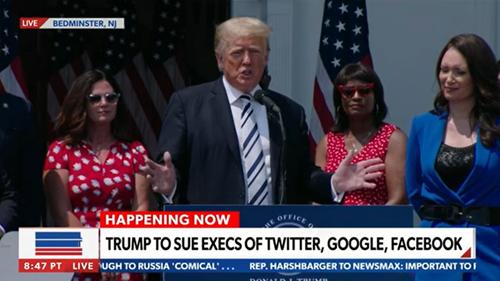 """Cựu Tổng thống Donald Trump sẽ kiện các """"gã khổng lồ"""" công nghệ"""