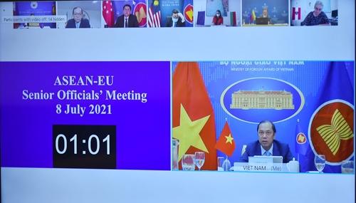 ASEAN - EU Phối hợp chặt chẽ trong kiểm soát và đẩy lùi COVID-19, thúc đẩy phục hồi