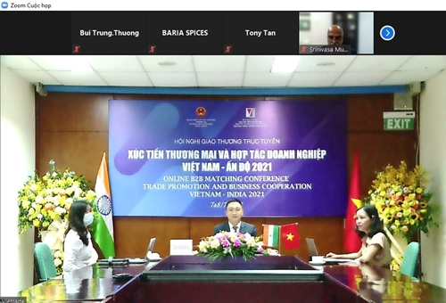 Giao thương trực tuyến kết nối doanh nghiệp Việt Nam và Ấn Độ