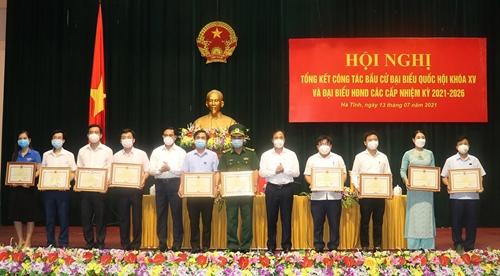 Hà Tĩnh tổng kết cuộc bầu cử ĐBQH khóa XV và đại biểu HĐND các cấp